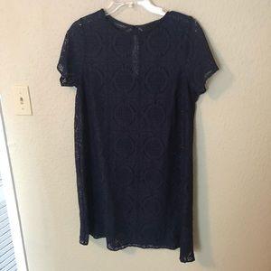 NWOT ASOS Maternity Navy Blue Soft Lace Tunic